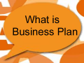 3. What is Business Plan