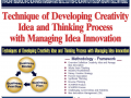 58.Techniques of Developing Creativity Idea and Thinking Process with Managing Idea Innovation